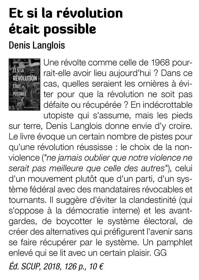 Résolution Langlois dans Silence 467 mai 2018