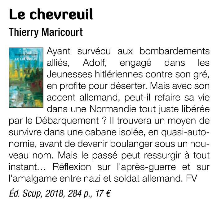 Le Chevreuil Maricourt Silence n°473 décembre 2018